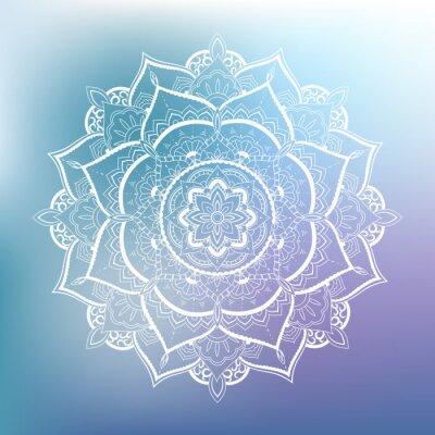 Carta da parati Modello cerchio ornamento. Mandala