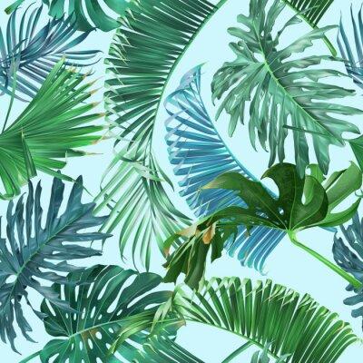 Carta da parati Modello di foglie tropicali
