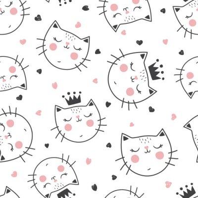 Carta da parati modello di gatto della regina