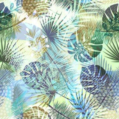 Carta Da Parati Texture Colorata.Modello Esotico Senza Cuciture Alla Moda Colorato Con Piante Carta