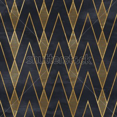 Carta da parati Modello geometrico senza cuciture su struttura di carta. Sfondo Art Deco,