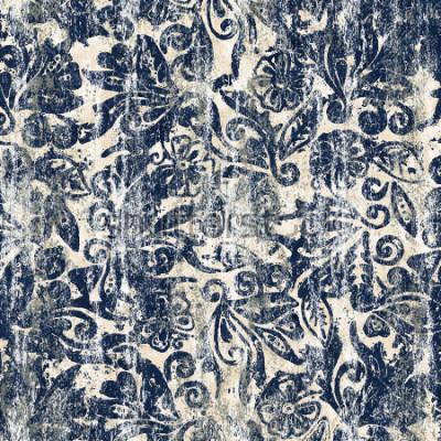 Carta da parati Modello moderno di ripetizione di struttura floreale dell'acquerello