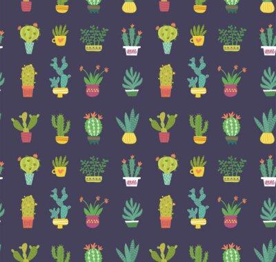 Carta da parati modello senza cuciture di cactus