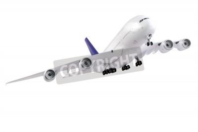 Carta da parati Modern airplane isolated on white background.