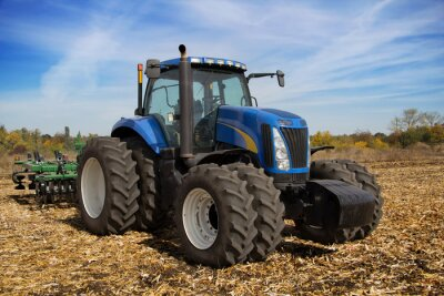 Carta da parati Modern farm tractor with planter