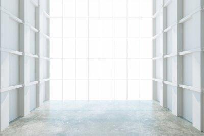 Carta da parati Moderna stanza vuota con la grande finestra