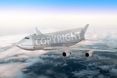 Carta da parati Moderno aereo sopra le nuvole.