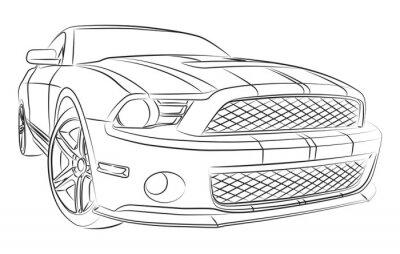 Carta da parati Moderno disegno muscle car