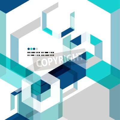 Carta da parati Moderno geometrica template vettoriale astratto
