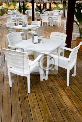 Sedie E Tavoli Di Plastica.Molte Sedie Di Plastica Bianca E Tavoli Carta Da Parati Carte Da