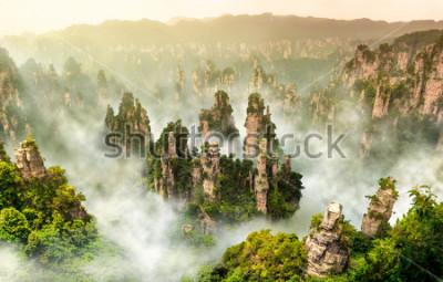 Carta da parati Montagna della scogliera di Zhangjiajie e Wulingyuan Hunan Cina