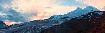 Carta da parati Montagna invernale tramonto panorama