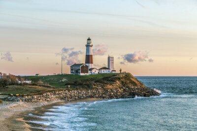 Carta da parati Montauk Point Light, Faro, Long Island, New York, Suffolk