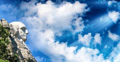 Carta da parati Monte Rushmore al tramonto, South Dakota - Stati Uniti d'America