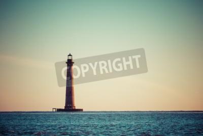 Carta da parati Morris Island Faro all'alba, South Carolina, Stati Uniti d'America