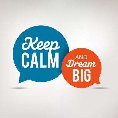 Carta da parati Motivation Quote - Keep Calm