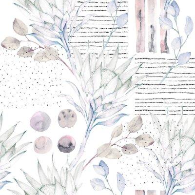 Carta da parati Motivo floreale senza saldatura. Illustrazione astratta acquerello. Priorità bassa di Grunge
