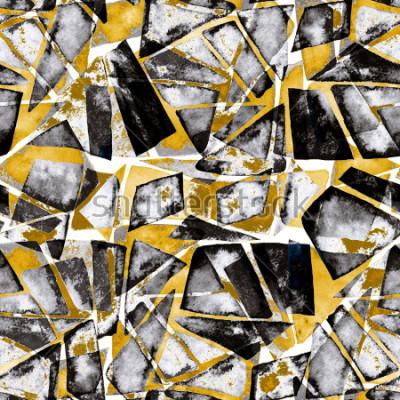 Carta da parati Motivo geometrico Struttura astratta dell'acquerello in stile moderno.