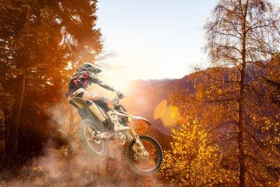Carta da parati Motocross al tramonto