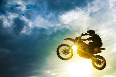 Carta da parati Motocross Bike salto
