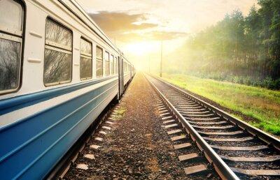 Carta da parati Moving train