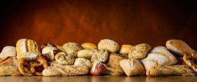 Carta da parati mucchio pane e ciambella