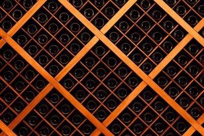 Carta da parati Muro di bottiglie di vino