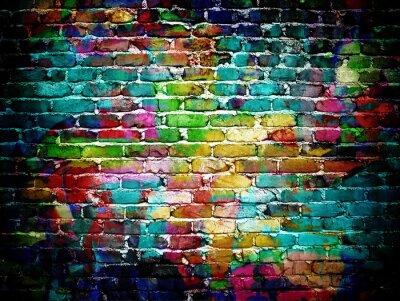 Carta da parati muro di mattoni dei graffiti