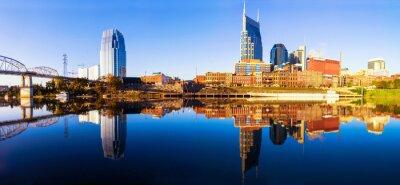 Carta da parati Nashvillle Skyline, Tennessee, Stati Uniti d'America