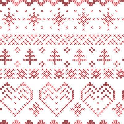 Carta da parati Natale senza soluzione di modello ispirato da modelli trasversali nordico