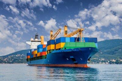 Carta da parati nave container mercantili