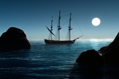 Carta da parati Nave pirata