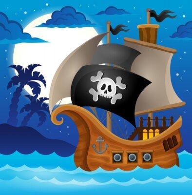 Carta da parati Nave pirata argomento image 2