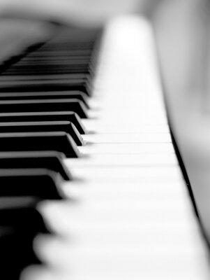 Carta da parati Nero pianoforte da vicino sfocatura dello sfondo e in primo piano.