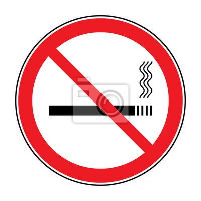 Nessun Segno Di Fumare è Consentito Icona Di Non Fumare Tondo
