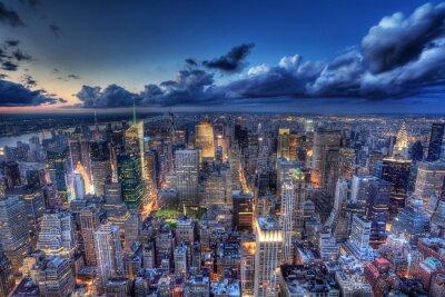 Carta da parati New York by night .