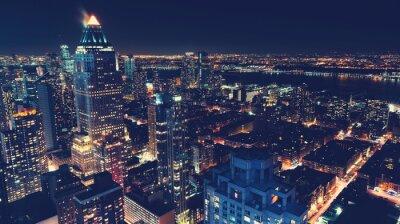 Carta da parati New York City skyline di notte