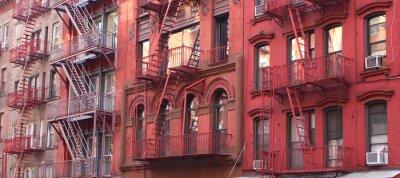 Carta da parati New York City / Uscita d'emergenza