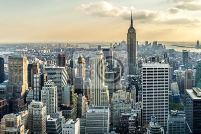 Carta da parati New York City Veduta aerea