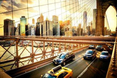 Carta da parati New York, Ponte di Brooklyn orizzonte
