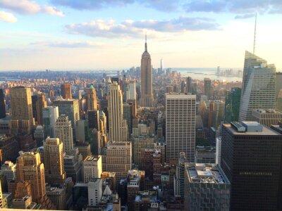 Carta da parati New York vista al tramonto da cima della roccia
