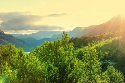 Carta da parati Norvegia montagne