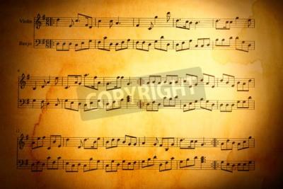 Carta da parati Note di musica di sfondo