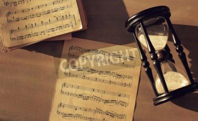 Carta da parati Note di musica sul tavolo