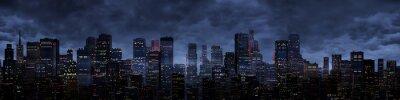 Carta da parati Notte panorama della città