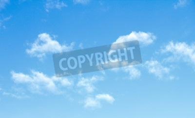 Carta da parati nubi del cielo blu