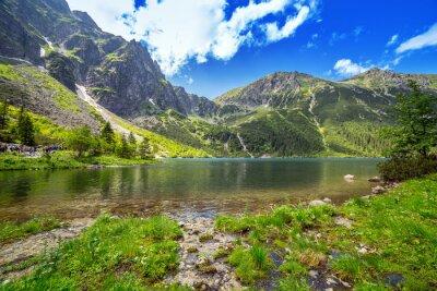 Carta da parati Occhio del lago mare in montagne Tatra, in Polonia