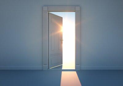 Carta da parati Offene Tür mit Sonnenlicht