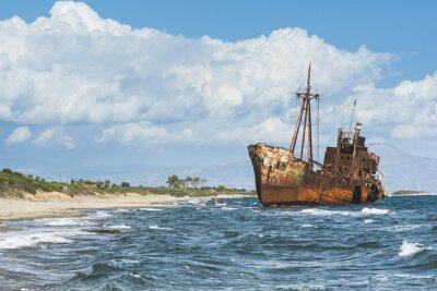 Carta da parati Old rustic big ship