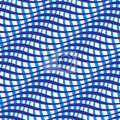 Carta Da Parati Moda.Ondulate Strisce Attraversato Seamless 3d Abstract Texture Di Carta